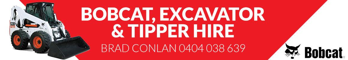 Sponsor - Brad Conlan - Bobcat, Excavator & Tipper Hire